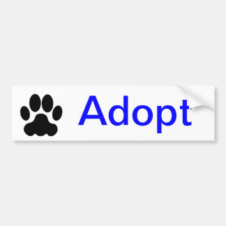 Adopt Paw Print Bumper Sticker