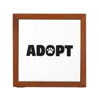 Adopt Paw Print Desk Organizer