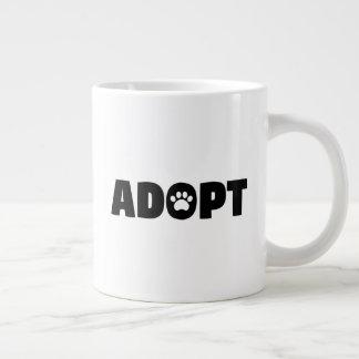 Adopt Paw Print Jumbo Coffee Mug
