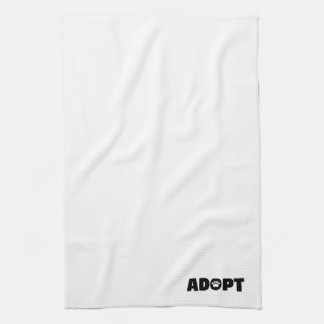Adopt Paw Print Kitchen Towel