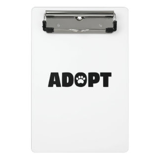 Adopt Paw Print Mini Clipboard