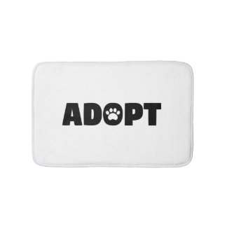 Adopt Rescue Dog Bath Mat