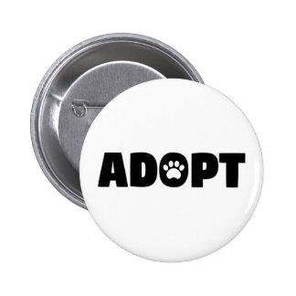 Adopt Rescue Dog Button