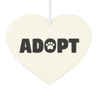 Adopt Rescue Dog Car Air Freshener