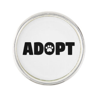 Adopt Rescue Dog Lapel Pin