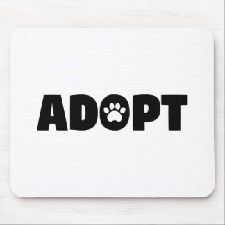 Adopt Rescue Paw Print Mouse Pad