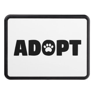 Adopt Rescue Paw Print Trailer Hitch Cover