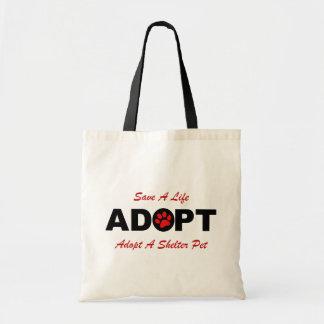 Adopt (Save A Life) Tote Bag
