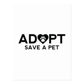 Adopt Save A Pet Postcard