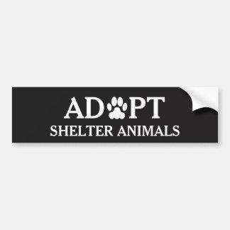 """""""Adopt Shelter Animals"""" Bumper Sticker"""