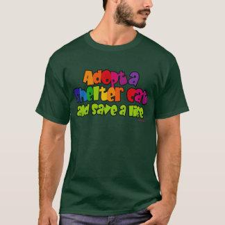 Adopt Shelter Cat (Rainbow) T-Shirt