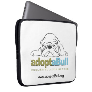 adoptaBull english bulldog custom laptop case Computer Sleeves