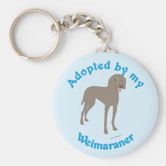 Adopted by My Weimaraner Keychain
