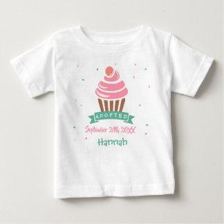 Adopted Cupcake - Custom Name Date Baby T-Shirt