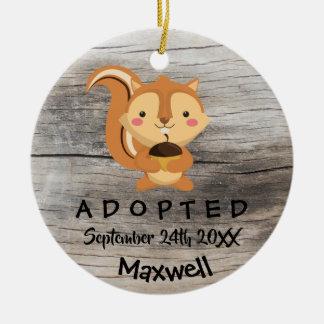 Adopted - Customized Chipmunk Adoption Gift Ceramic Ornament
