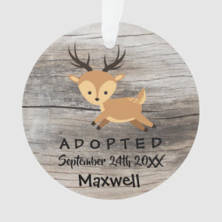 Adopted - Customized Deer Adoption Gift Ornament