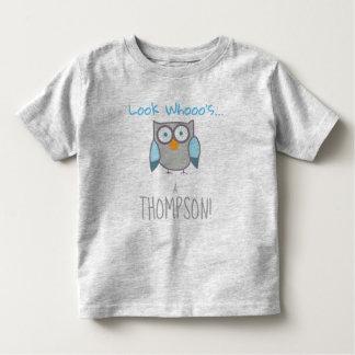 Adopted Owl Last Name - Custom Name Shirt