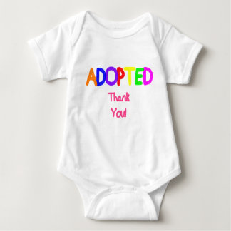 Adopted Pink Thank You Baby Bodysuit