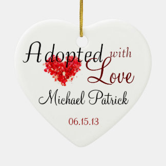 Adopted with Love Adoption Ornament