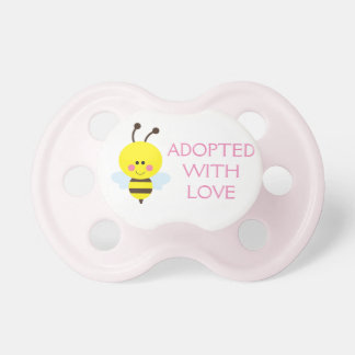 Adopted with Love Pacifier - Pink