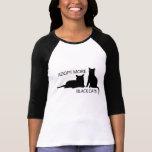 Adoptez des chats plus noirs t-shirt