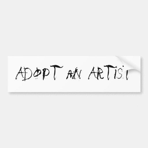 Adoptez un artiste adhésifs pour voiture