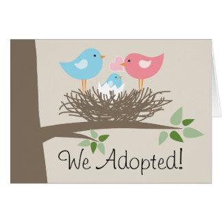 Adoption Announcement  - Bird's Nest