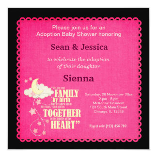 Adoption Baby Shower Girl Card