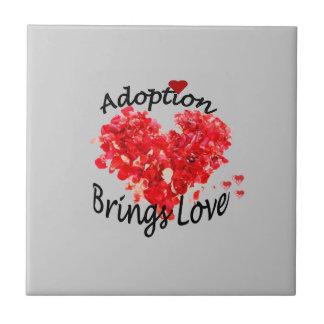 Adoption Brings Love Tile