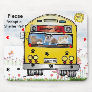Adoption Bus for Cat's & Dog's Mousepad