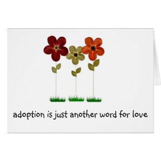 adoption card