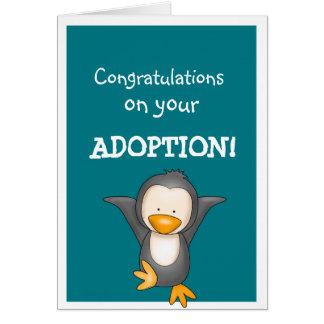 Adoption congratulations greetings card