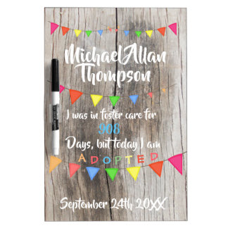 Adoption Day Sign to Hold - Foster Care - Adopt Dry Erase Board