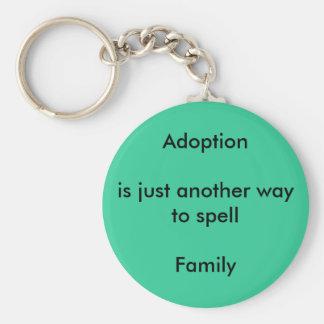 Adoption equals Family Keychain