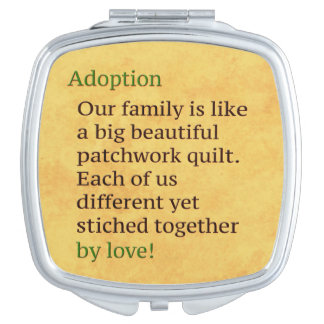 Adoption is a Patchwork Travel Mirror