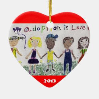 Adoption Is Love Ornament