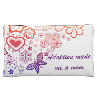 Adoption Made Me a Mom Cosmetic Bag