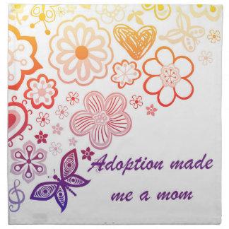 Adoption Made Me a Mom Napkin