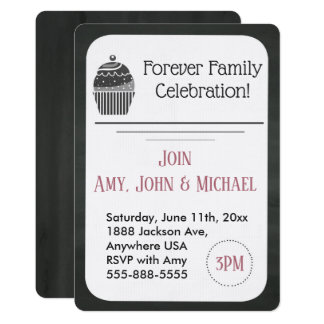Adoption Party Chalkboard Cupcake Announcement