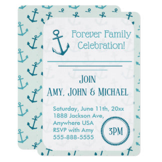 Adoption Party Nautical Anchors Announcement