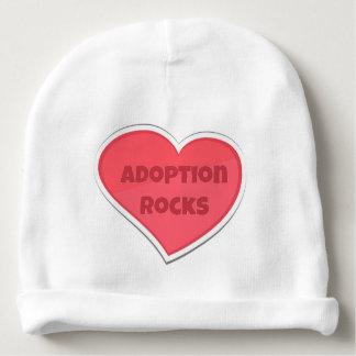 Adoption Rocks Pink Heart Design Baby Beanie