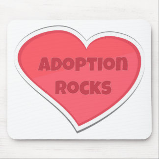 Adoption Rocks Pink Heart Design Mouse Pad