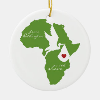 Adoption Stork Ethiopia Ornament