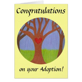 Adoption Tree Congratulations on your Adoption! Card