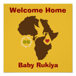 Adoption Welcome Home Poster - Ethiopia