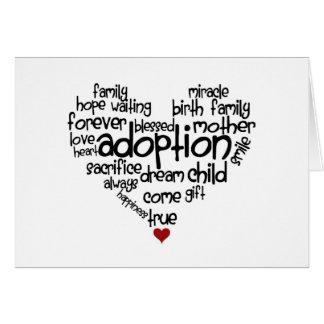 Adoption-words Card