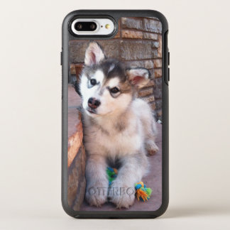 Adorable Alaskan Malamute Puppy Posing Photograph OtterBox Symmetry iPhone 8 Plus/7 Plus Case