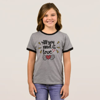 Adorable All You Need is Love | Ringer Shirt