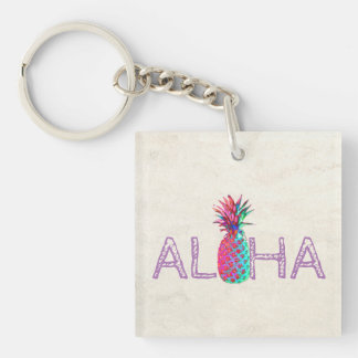 Adorable Aloha Hawaiian Pineapple Keychain