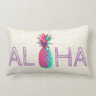 Adorable Aloha Hawaiian Pineapple Lumbar Pillow